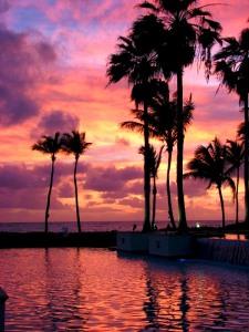 Sun rise in San Juan, Puerto Rico